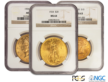 Certified Investment Grade Coins