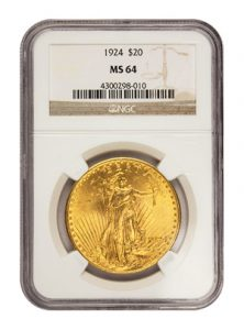view the $20 St. Gaudens