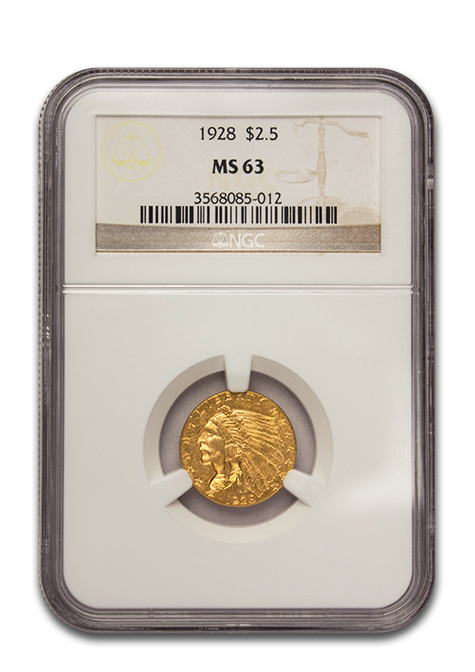 $2.50 Gold Indian Coin