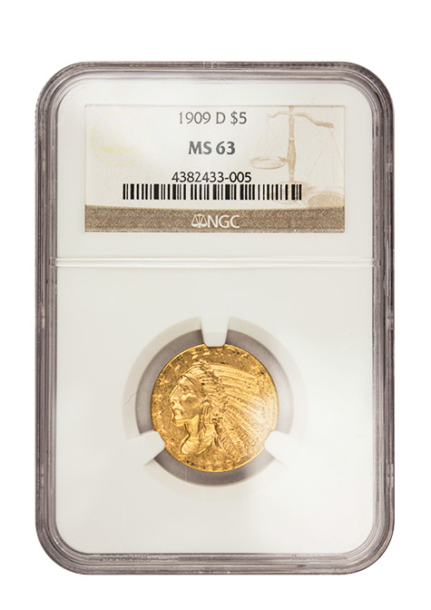 $5 Gold Indian Coin