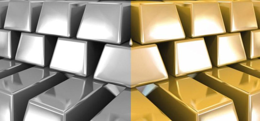 gold and silver bars split