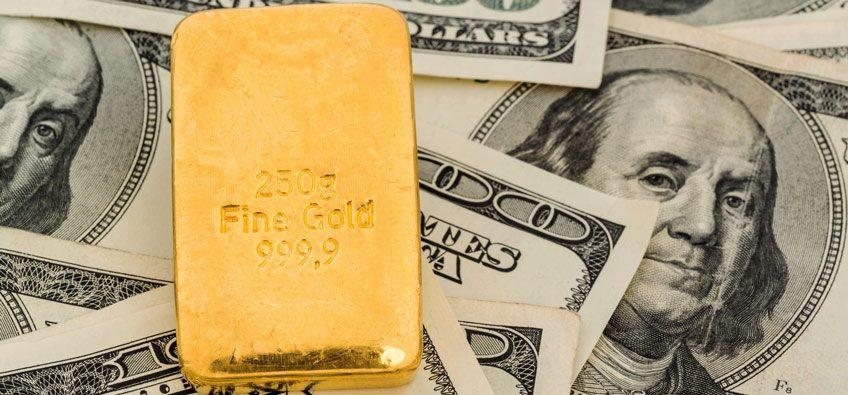 dollar and gold correlation