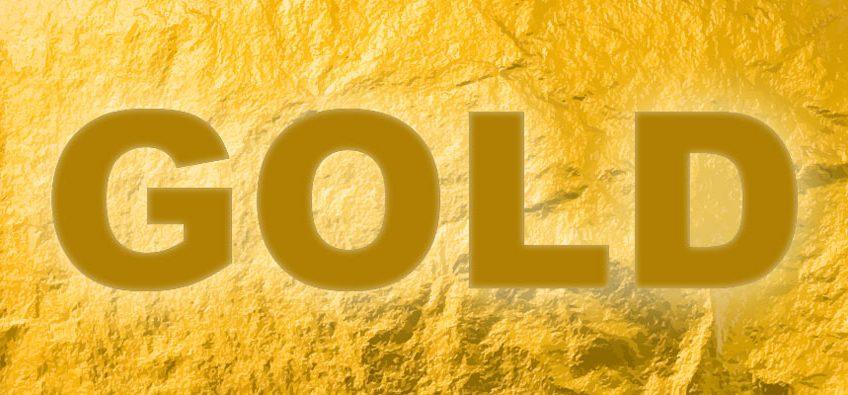 gold texture text