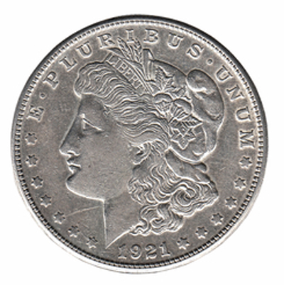circulated morgan dollar